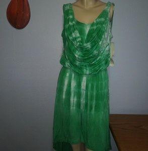Green Dragon Green Tie Dye Dress